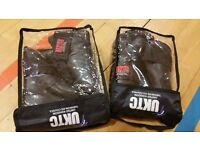 teakwon-do gloves, uniform, boots