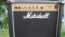 MARSHALL 20 KEYBOARD/ELECTRIC GUITAR AMPLIFIER/WHO/KINKS/STONES/HENDRIX/WHITE STRIPES SOLID STATE UK