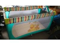 Hauck travel cot - great condition, compact, good size for transporting and tall toddlers