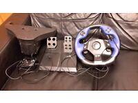 Logitec force feedback steering wheel