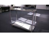 Full Glass Aluminium Display Counter with two shelves - Lockable