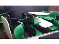 4 four seaters molded seats and tables