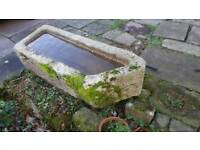 French granite solid trough suitable for water feature