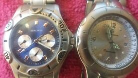 two mens watches £5 each sekonda is engraved / both work got battery in