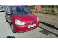 Toyota YARIS 998 cc very good car cheap to run around mot 07/17 only £475