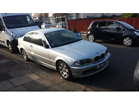 SILVER BMW 318 Ci WITH LOW MILEAGE, ONE PREVIOUS OWNER AND PRIVATE PLATES