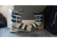 Salomon X Max 60 T Ski Boots Size 24.5 and Salomon Boot Bag