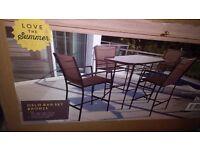 Garden bar table & chairs set-brand new