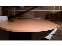 Round Office Dining desk table 100x72 Warrington