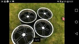 """20"""" BMW x5 chrome deep dish 5x120 vw t5 camper. Will swap"""