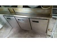 Commercial 3 door counter fridge