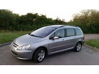 Peugeot 307 SW 7 seater, 2 litre HDi Diesel, 110 BHP Excellent Runner, Cheap Workhorse or Family Car