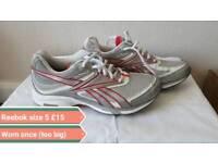 Reebok trainers size 5