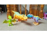 Dinosaur train roar and react interactive toys