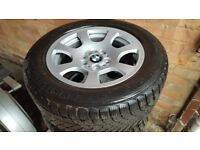 BMW genuine alloy wheels 134 style winter new tyres 225/55/r16