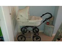 Baby Style 2 in 1 Pram, Pink Moses basket & Baby Bouncer