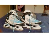 Women's uk size 5 ice skates worn once next to new and still boxed