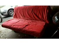 Red ikea sofabed
