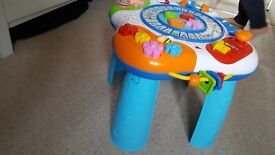 Baby activity table. Legs can be removed to use on any surface.