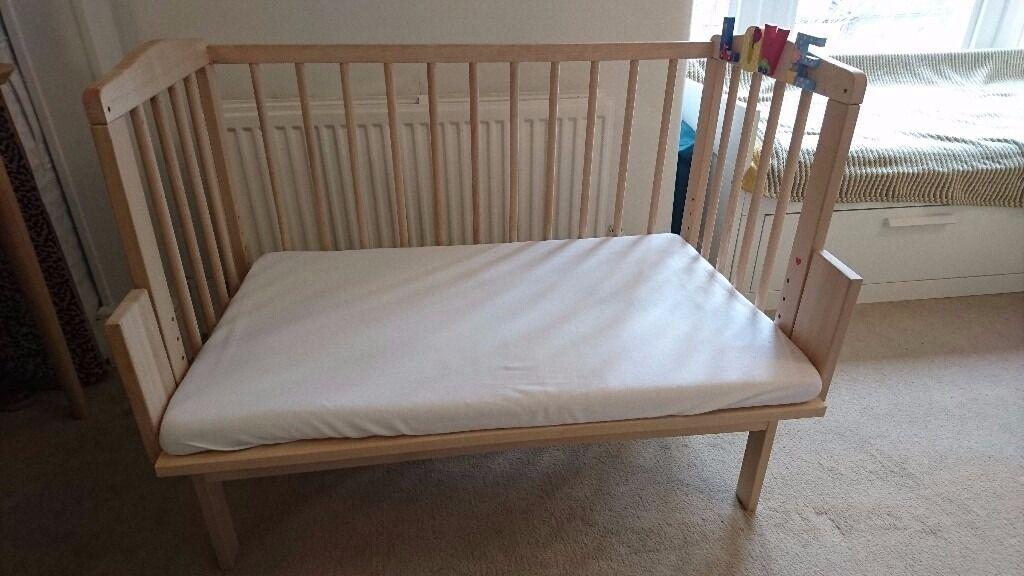 Waldin Baby Bedside Cot Co Sleeping Height Adjustableuntreated In