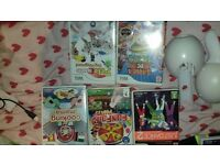 nintendo wii accessory + games bundle