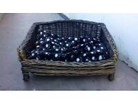 Used once lovely dog bed