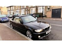 2005 BMW 320CD M SPORT CONVERTIBLE BLACK - CREAM HEATED/ELECTRIC/MEMORY SEATS 320D