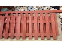 Picket fence panels X3 with a gate