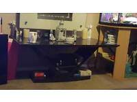 Beautiful black wood glass coffee table only