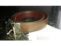 BNWT Paul Smith designer brown leather belt RRP £115