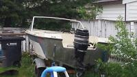 15ft boat and trailer and motor