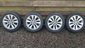 BMW 16'' Alloys + Tyres 195/55 R 16 in good condition