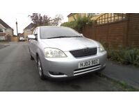 Toyotota corolla,T spirit, 1.6vvti, 2previous owners, full service history, a/c, cd sterio