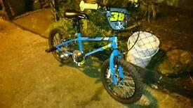Blue bmx style bike age 4-7