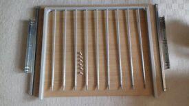 ikea trouser rack with light wood shelf