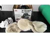 "10"" car polisher with mittens"