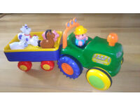 Old MacDonald Farm Tractor & Trailer Set