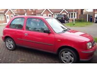Red Nissan Micra Low Mileage Great Condition MOT until end of July