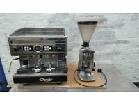 Astoria 2 group coffee machine with grinder