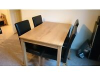 Dining Room Table and 4 chairs - EXCELLENT CONDITION