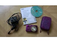 Nikon Coolpix 2700 with charging lead, instruction manual and case