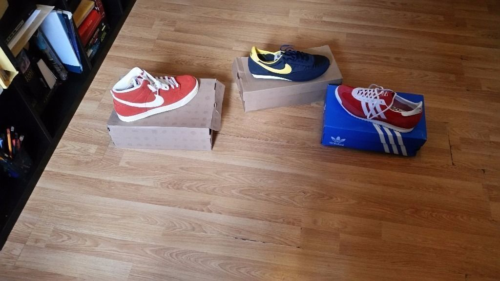 NIKE AND ADIDAS TRAINERS SIZE 9 ONLY / ORIGINALS AND NEW CONDITION IN BOX
