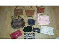 Bundle of river island, warehouse, nica, etc bags