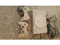 Play station 1 with 2 consoles and a playstation 2 camera