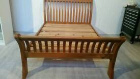 Solid Pine Double Sleight Bed Frame