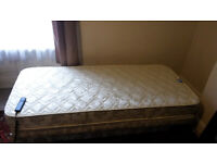 Single bed with electrically adjustable head and foot ends. Reduced To 75!
