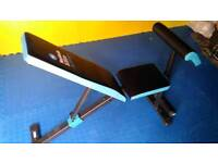 Adjustable weights bench