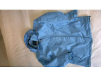 Womens Outdoor Coat REGATTA BLUE Showerproof Jacket with HOOD Size S small - 10