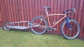 "Mountain Bike style Adventure bike - Medium / Alloy / 26"" - including Trailer"