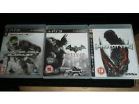 Blue rays and ps3 games